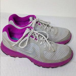 Nike Air 2011 Gray Pink tennis shoes sneakers 8.5